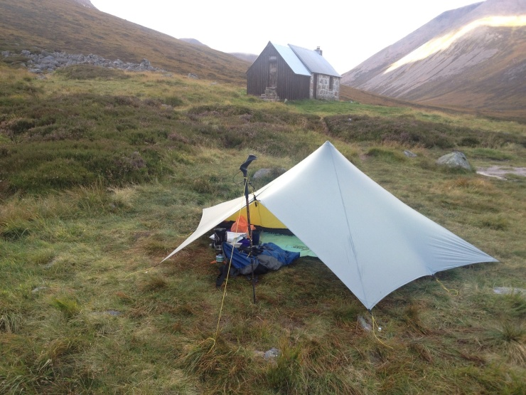 Wild Camp - Corrour Bothy Cairngorms Scotland