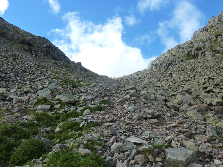 Looking back up Narrowcove Gill