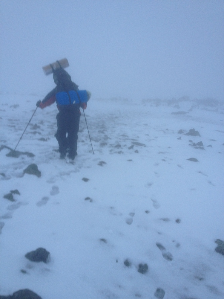 Graham walking the final few steps towards the top of Carnedd Llewelyn.