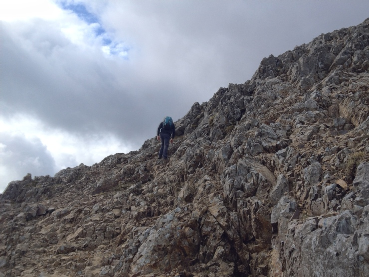 Half Way up to Crib Goch