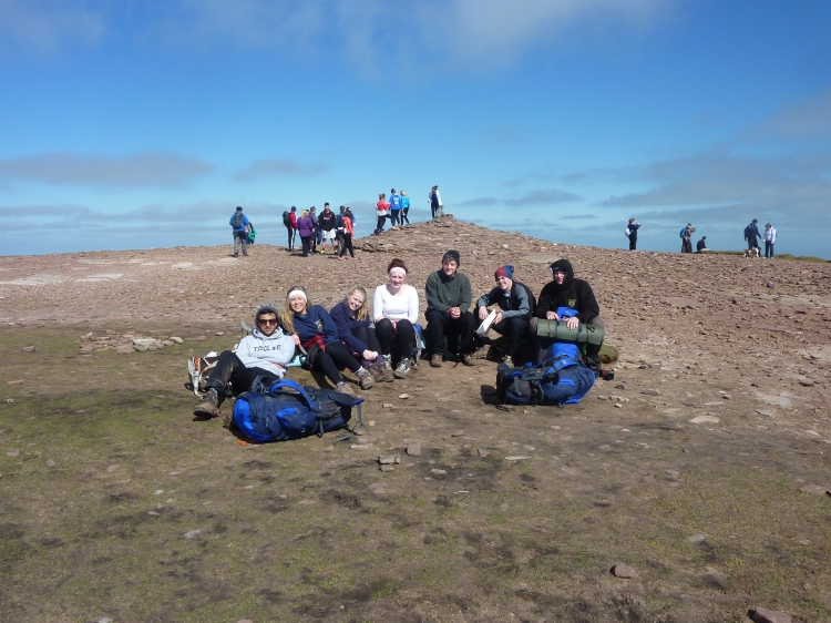 The team on top of Pen Y Fan