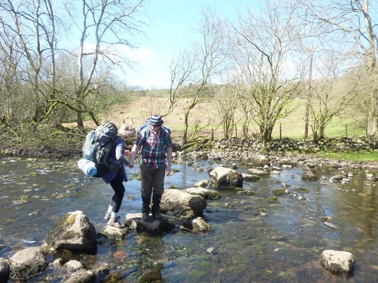 Crossing the Afon Hepste