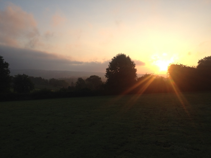 Sunrise over the Campsite at 7am.