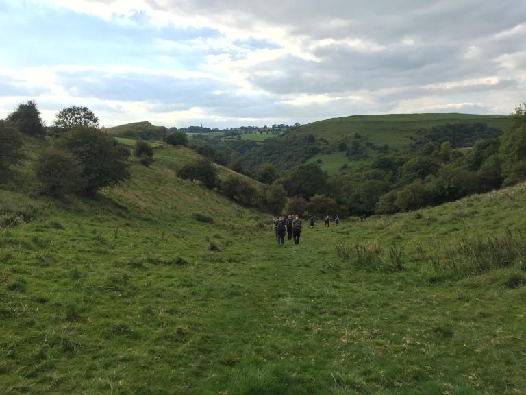 Descending towards Wetton Mill.