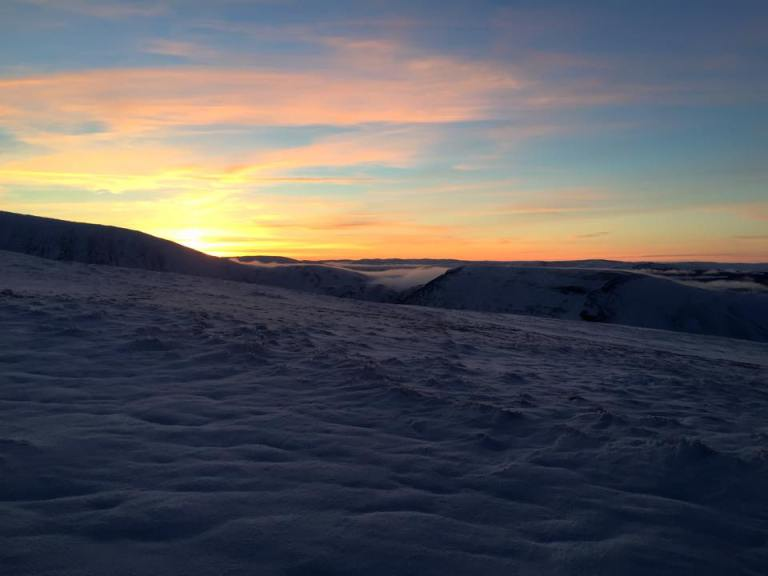 Sunset from the Tops